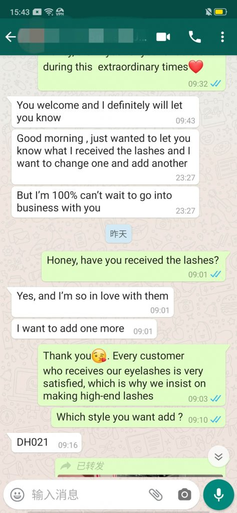 Mink Eyelash Feedback